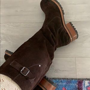 ASH genuine suede boots super soft pull on style